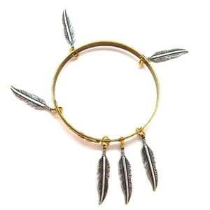 THUNDERBIRD LADYHAWKE SMALL FEATHER BANGLE - NEW